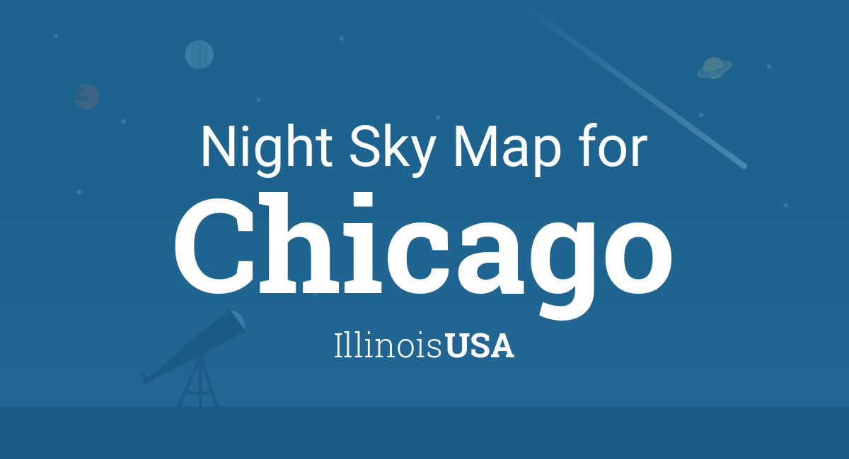 Night Sky Map & Planets Visible Tonight in Chicago
