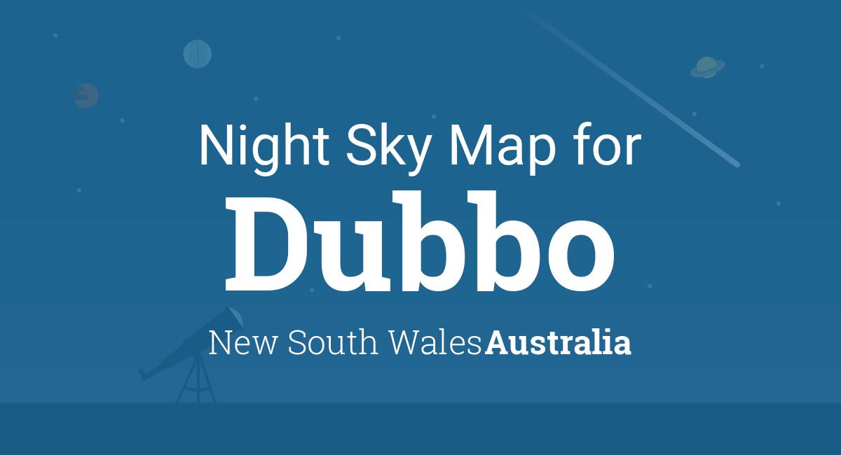 Australia Map Dubbo.Night Sky Map Planets Visible Tonight In Dubbo