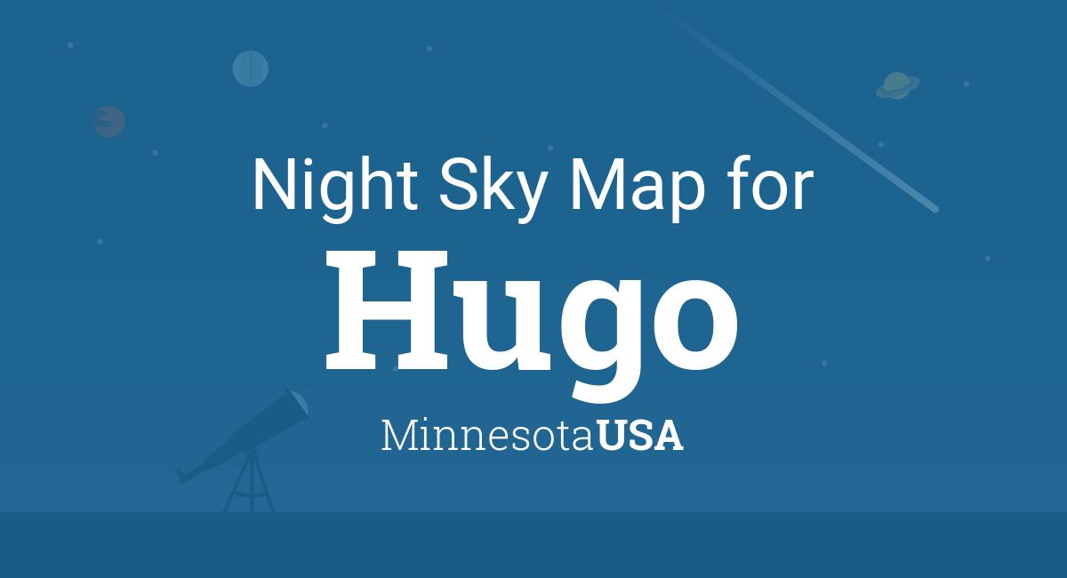 Hugo Minnesota Map.Night Sky Map Planets Visible Tonight In Hugo
