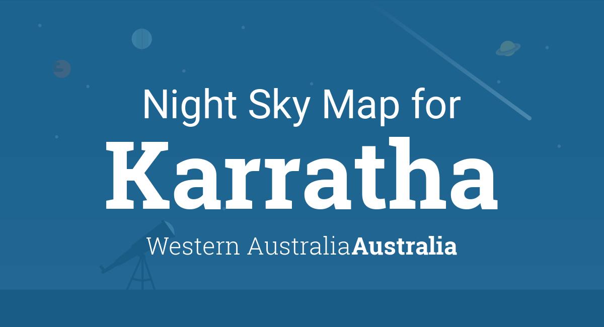 Australia Map Karratha.Night Sky Map Planets Visible Tonight In Karratha