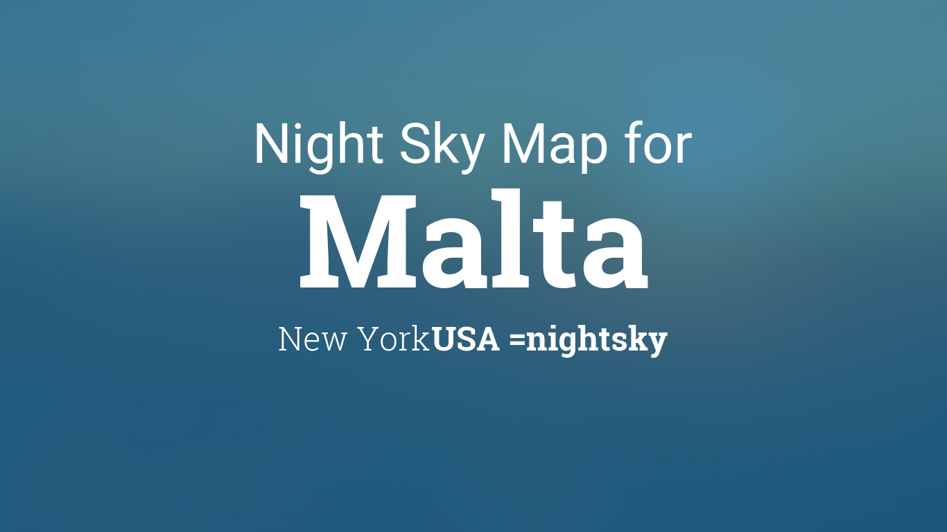 Night Sky Map & Planets Visible Tonight in Malta on