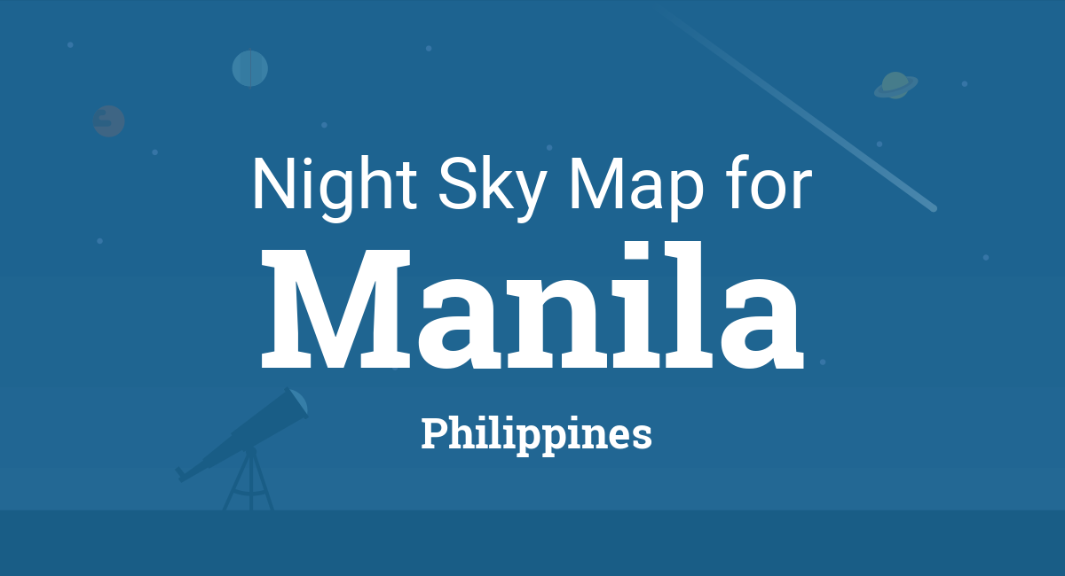 Night Sky Map & Planets Visible Tonight in Manila