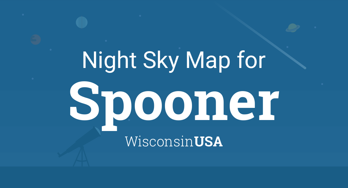 Night Sky Map Planets Visible Tonight In Spooner