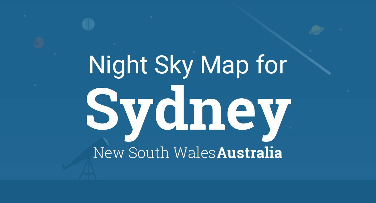 Night Sky Map & Planets Visible Tonight in Sydney