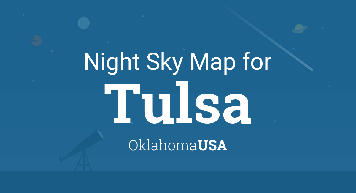 Night Sky Map & Planets Visible Tonight in Tulsa