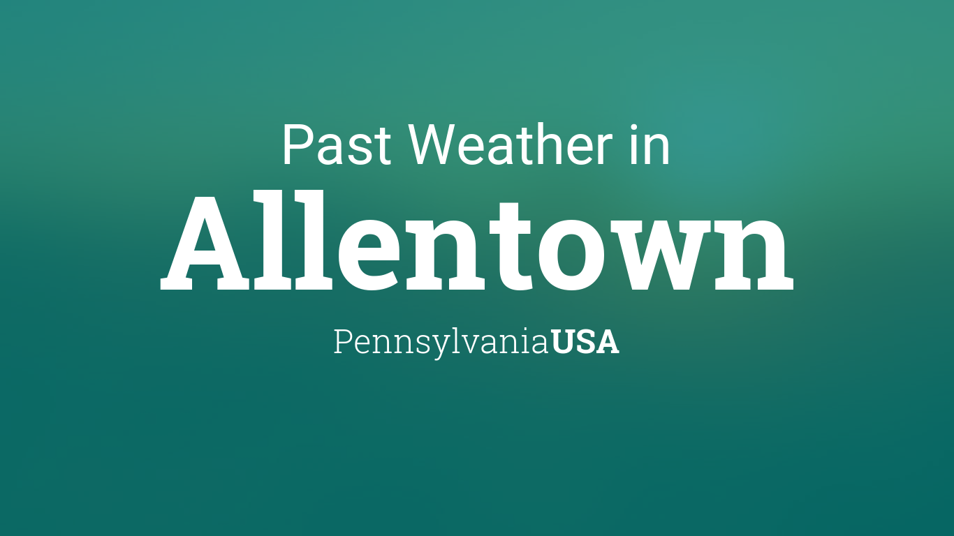 weather for allentown pennsylvania