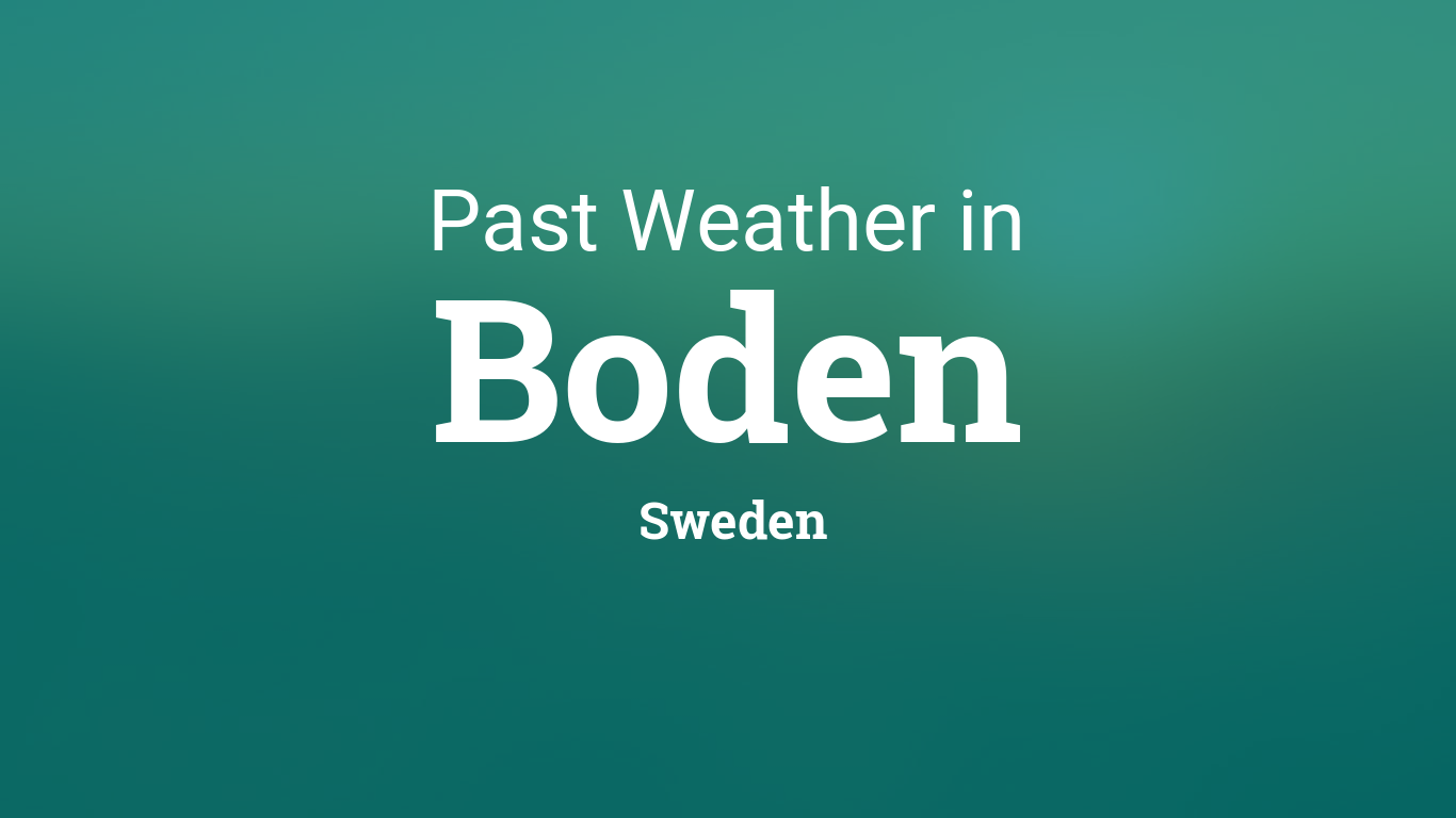Weather In January 2017 In Boden Sweden