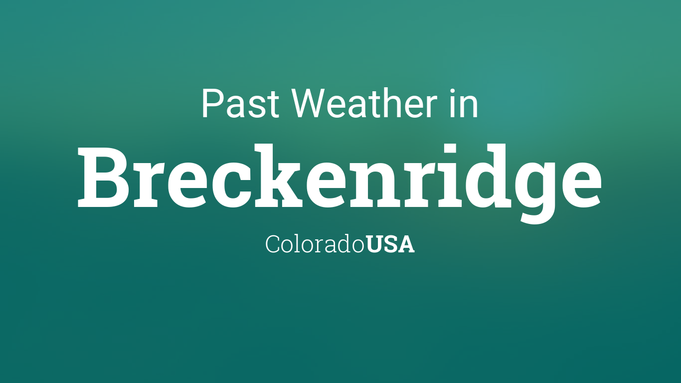 The barometric pressure in breckenridge