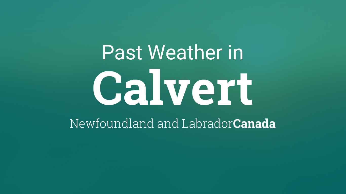 Weather in August 2017 in Calvert, Newfoundland and Labrador