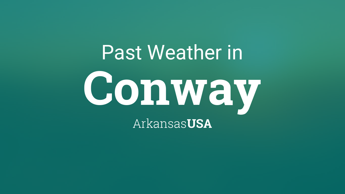 weather for conway arkansas