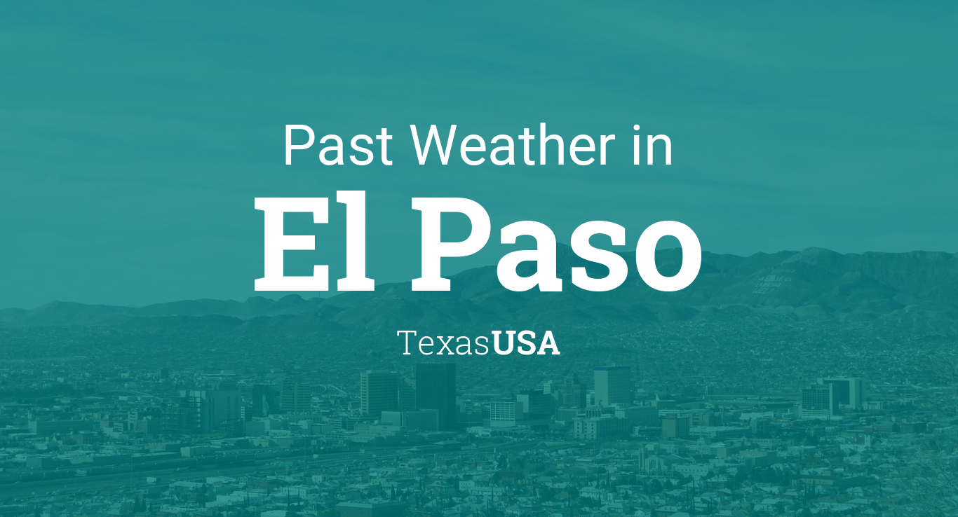 el paso weather monthly