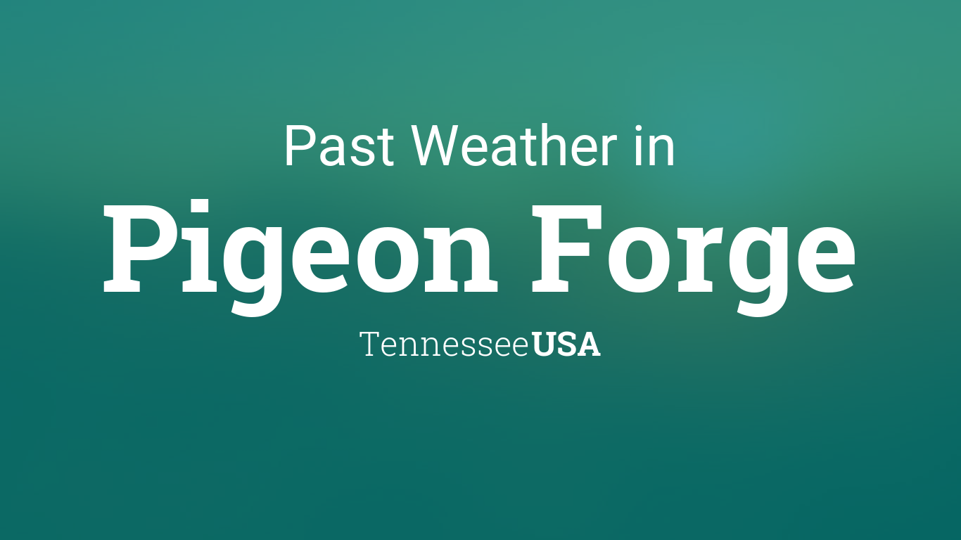 temperature in pigeon forge tennessee