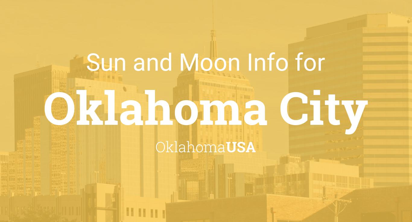 Sun & moon times today, Oklahoma City, Oklahoma, USA