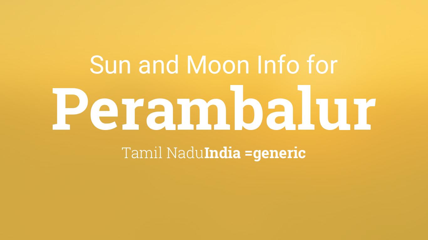 Perambalur, India - Area Phone Codes