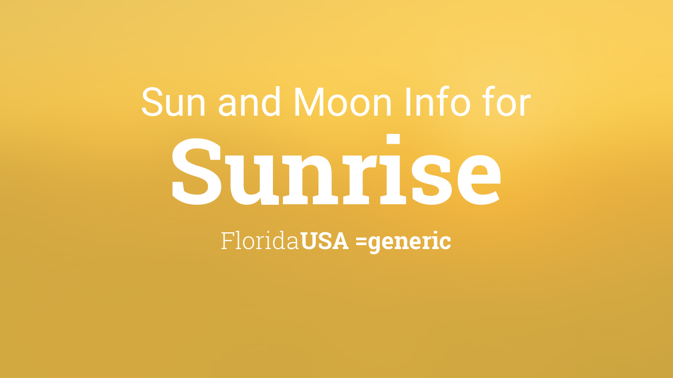 sun moon times today sunrise florida usa. Black Bedroom Furniture Sets. Home Design Ideas