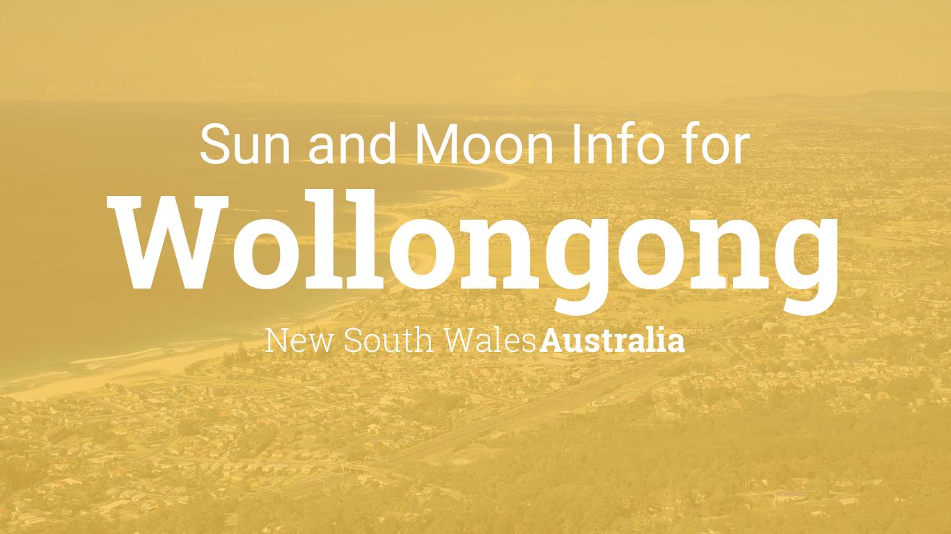 Sun moon times today wollongong new south wales australia nvjuhfo Choice Image