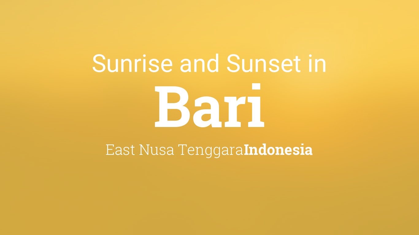 Sunrise and sunset times in Bari