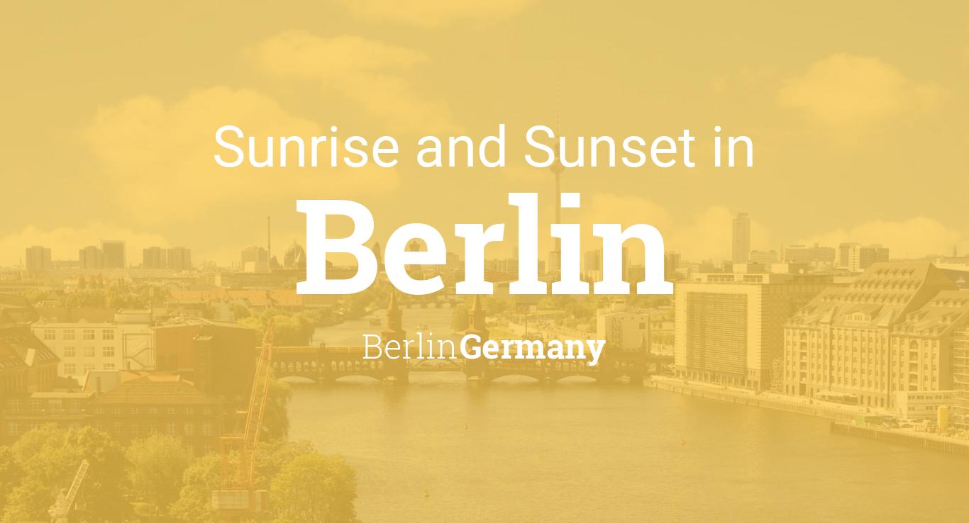 Sunrise and sunset times in Berlin, September 2019