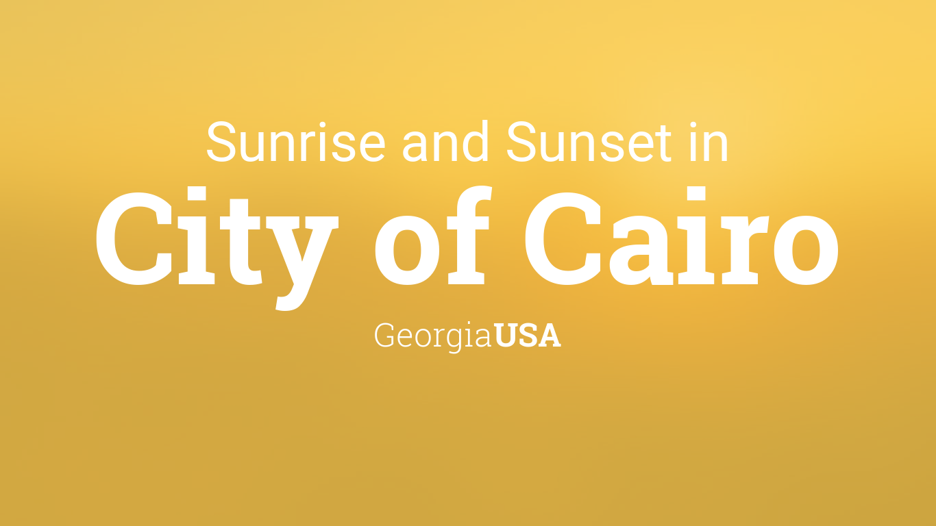 Sunrise and sunset times in City of Cairo