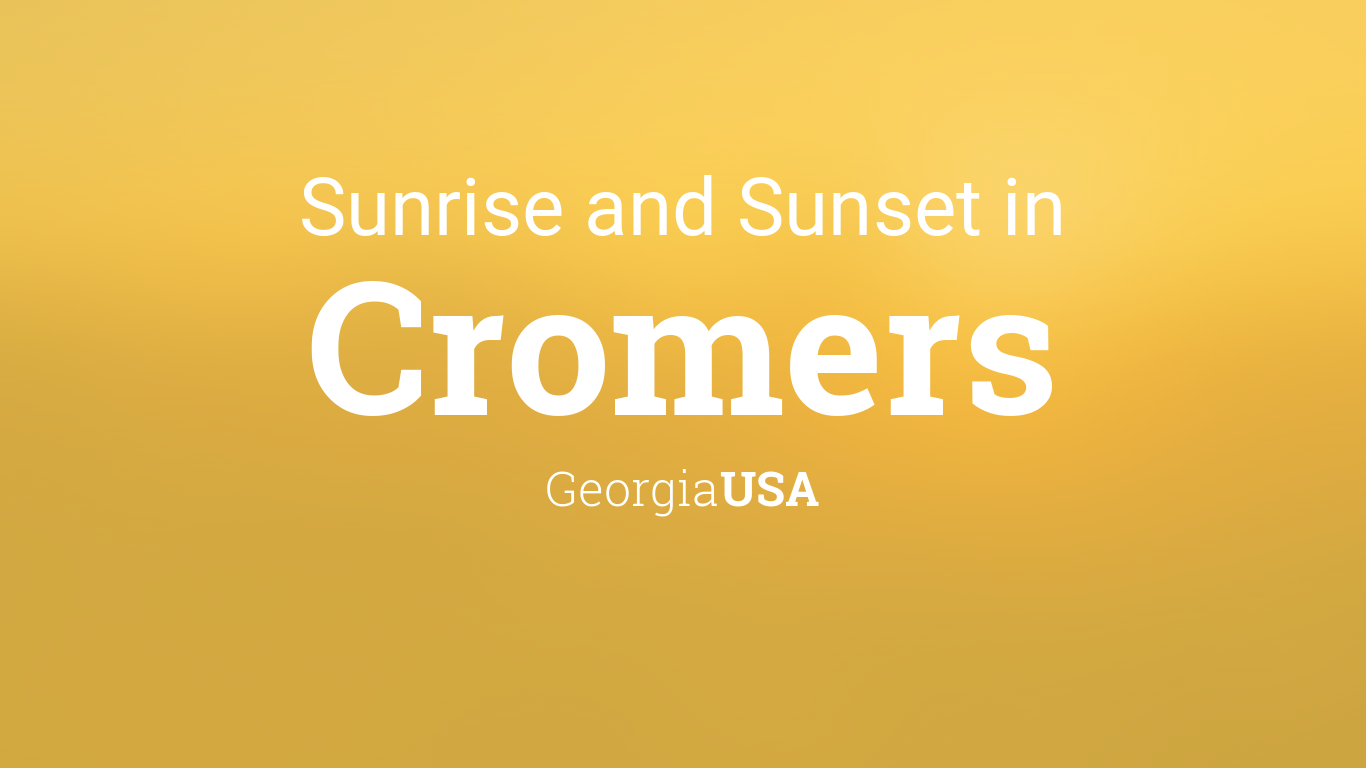 Sunrise and sunset times in Cromers, March 2020