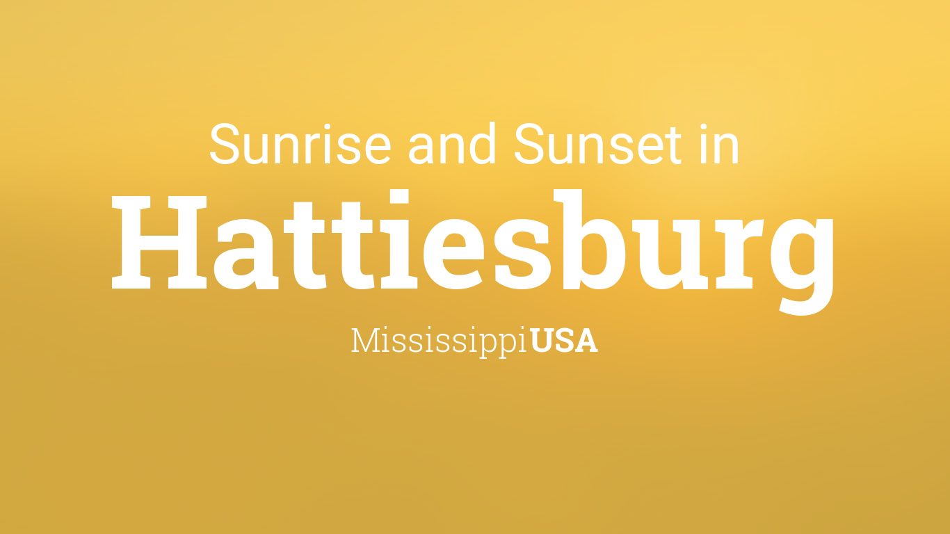 Sunrise and sunset times in Hattiesburg