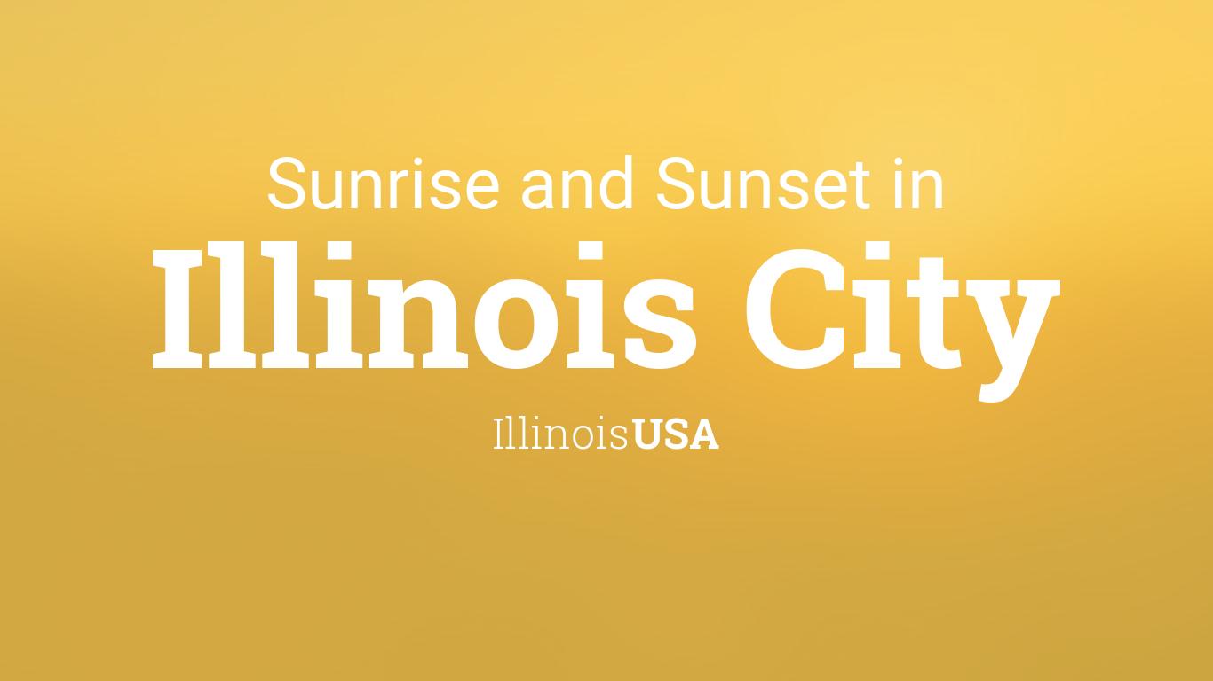 Sunrise Sunset Calendar 2022.Sunrise And Sunset Times In Illinois City