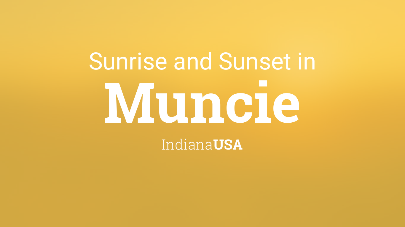 Sunrise and sunset times in Muncie