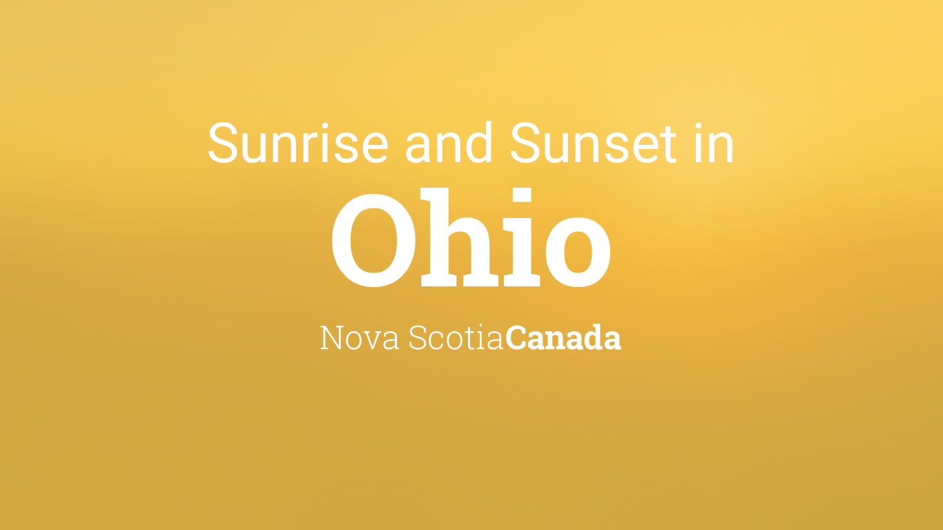 Sunrise and sunset times in Ohio