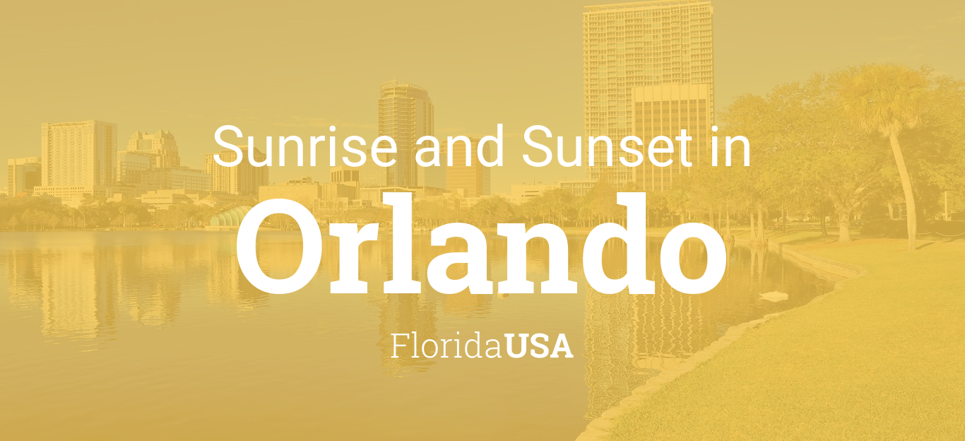 Sunrise and sunset times in Orlando, November 2019