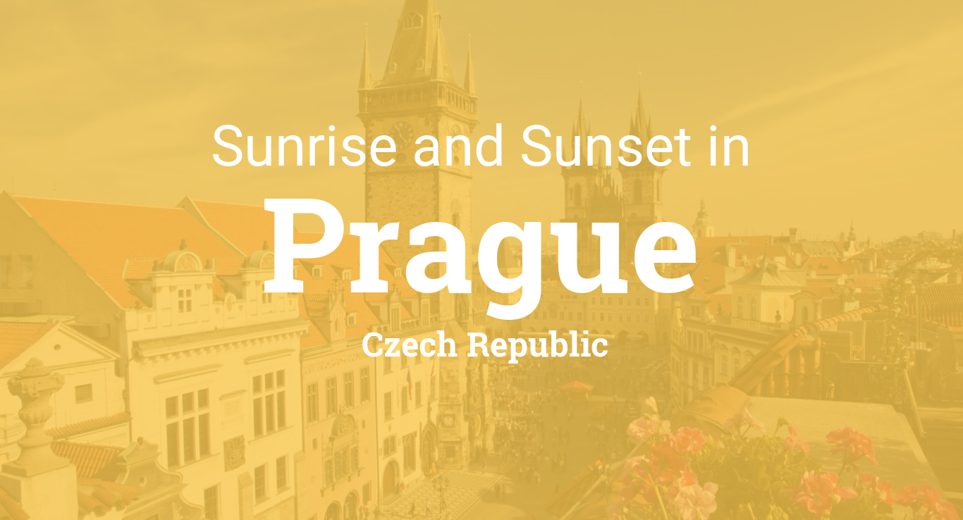 Sunrise and sunset times in Prague