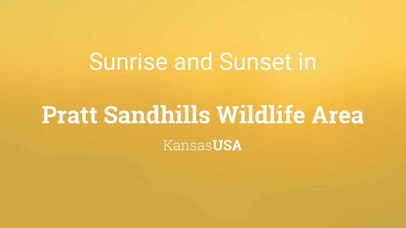 Summer Solstice Sandhills >> Sunrise And Sunset Times In Pratt Sandhills Wildlife Area