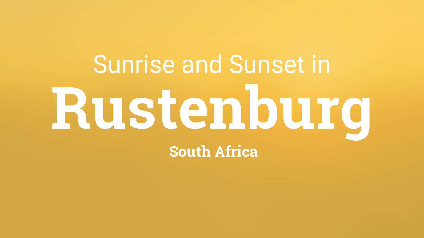 Sunrise and sunset times in Rustenburg