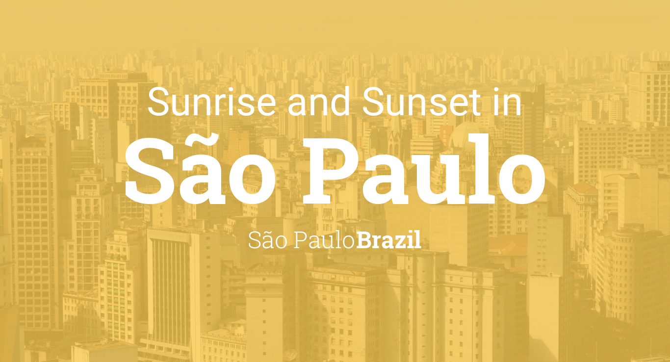 882ba44c6d Sunrise and sunset times in São Paulo