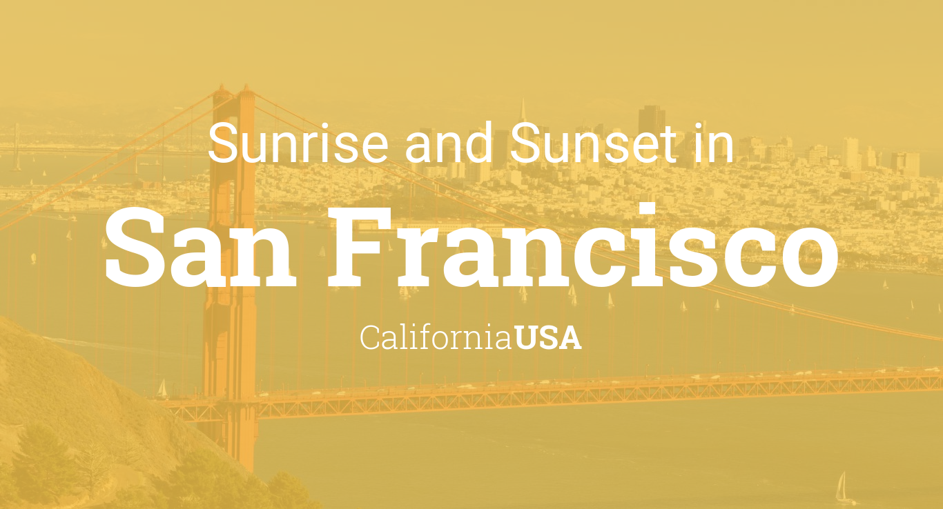 Sunrise and sunset times in San Francisco