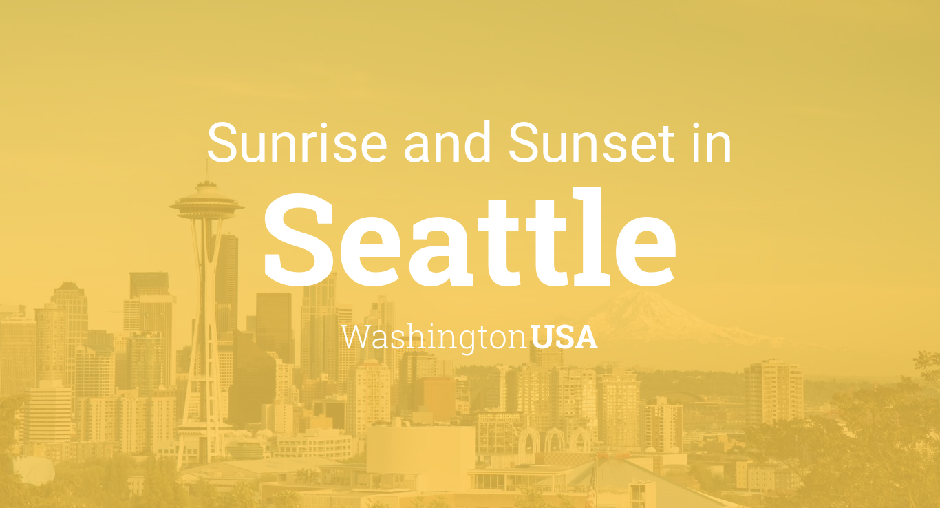 Sunrise And Sunset Calendar 2020 Sunrise and sunset times in Seattle