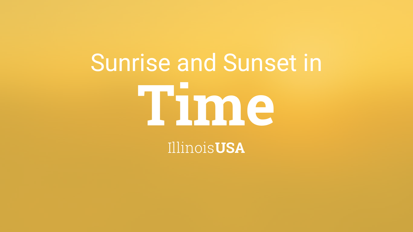 Sunrise And Sunset Times In Time