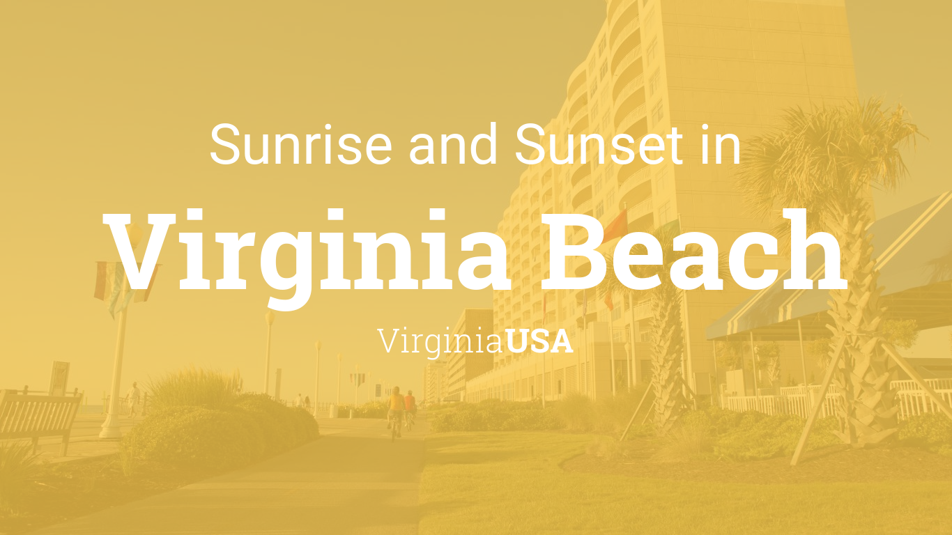 Sunrise and sunset times in Virginia Beach