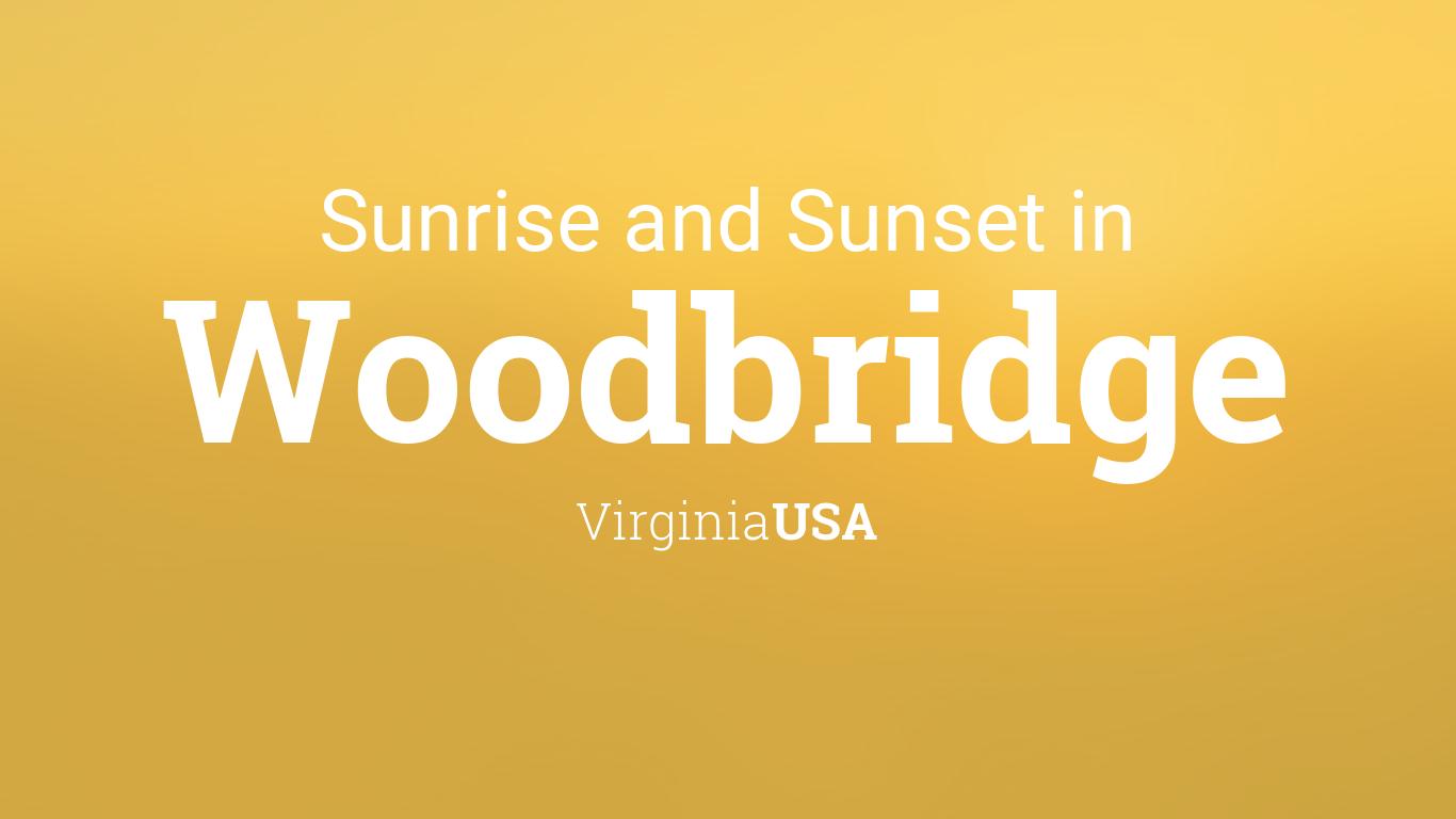 Sunrise And Sunset Times In Woodbridge