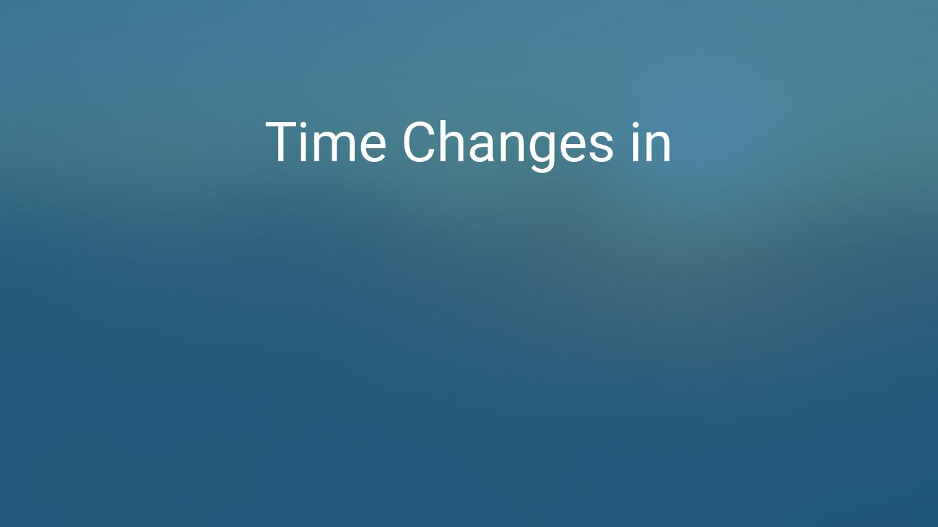 New Zealand Time Image: Daylight Saving Time Changes 2019 In Wanganui, New Zealand