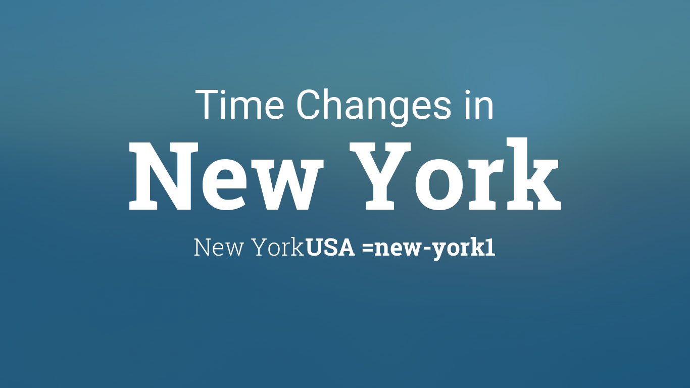 Daylight Saving Time Changes 2014 in New York, New York, USA on