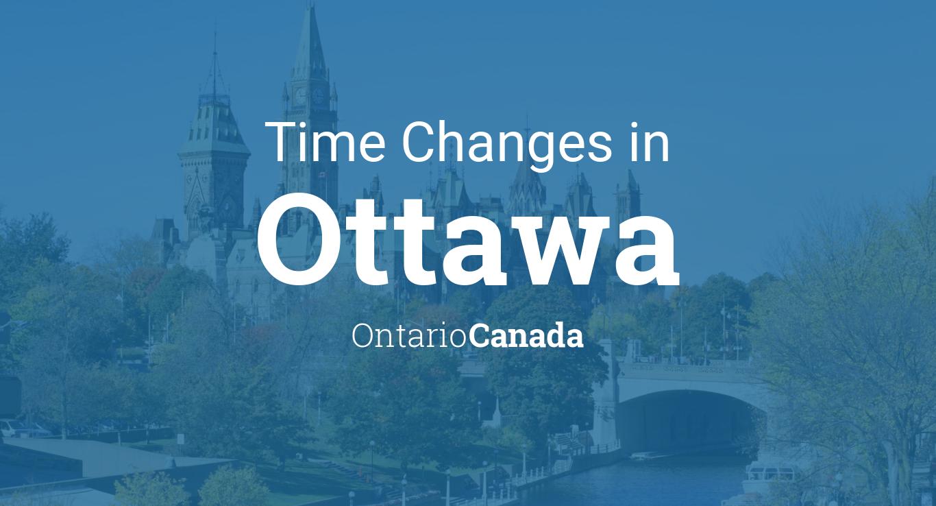 Daylight Saving Time Changes 2019 in Ottawa, Ontario, Canada
