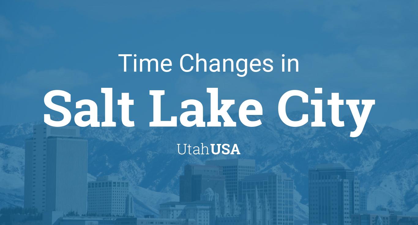 Daylight Saving Time Changes 2019 in Salt Lake City, Utah, USA