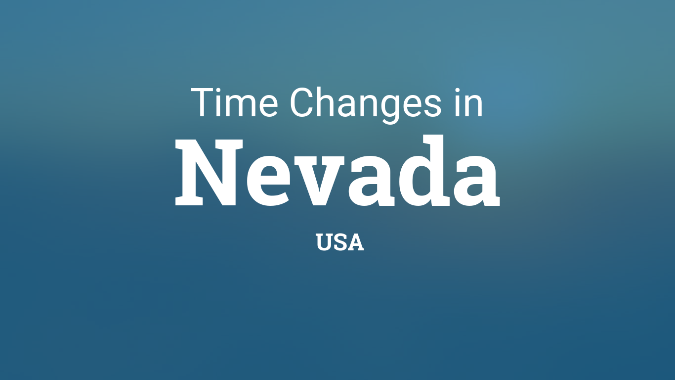 Daylight Saving Time 2020 In Nevada United States