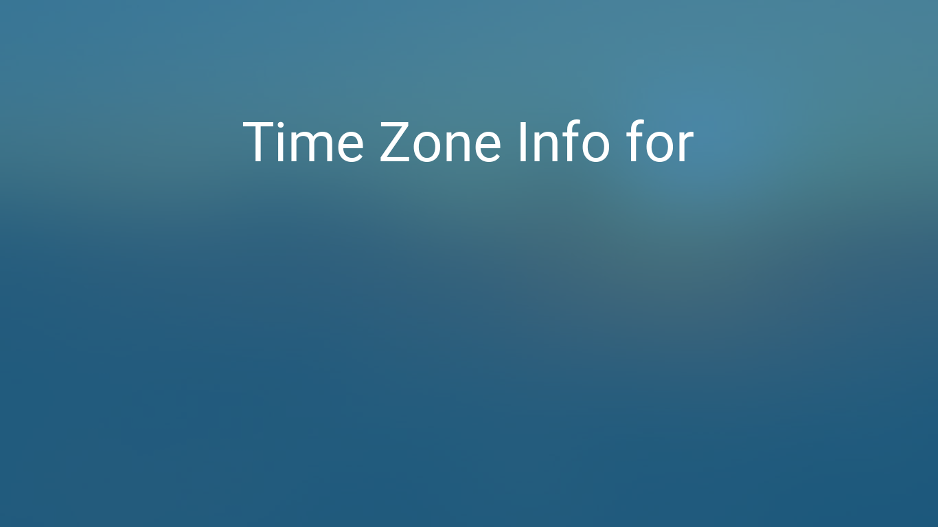Time Zone Amp Clock Changes In Manila Philippines