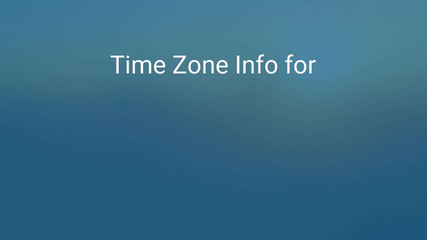 us time zones clock