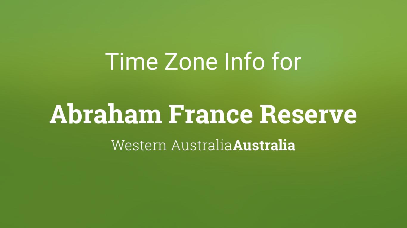 time zone clock changes in abraham france reserve. Black Bedroom Furniture Sets. Home Design Ideas