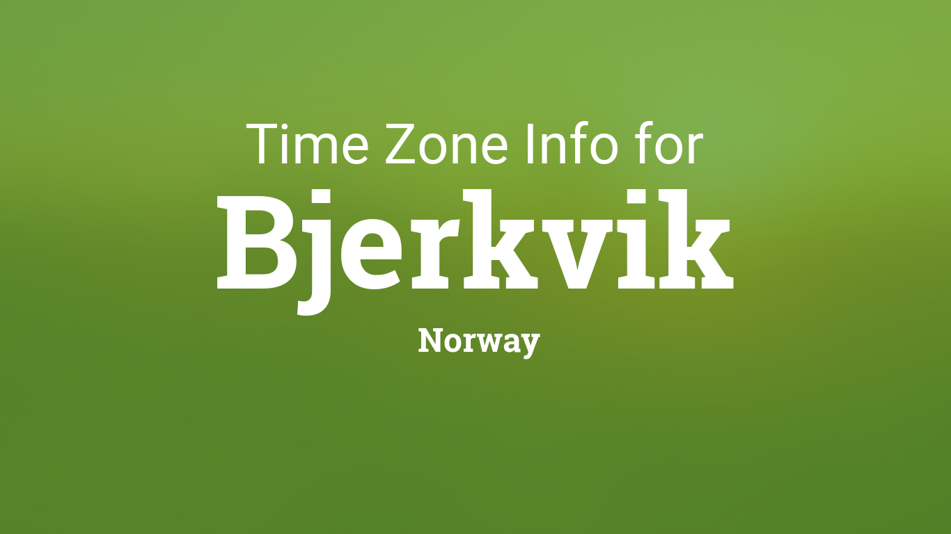 norway time zone