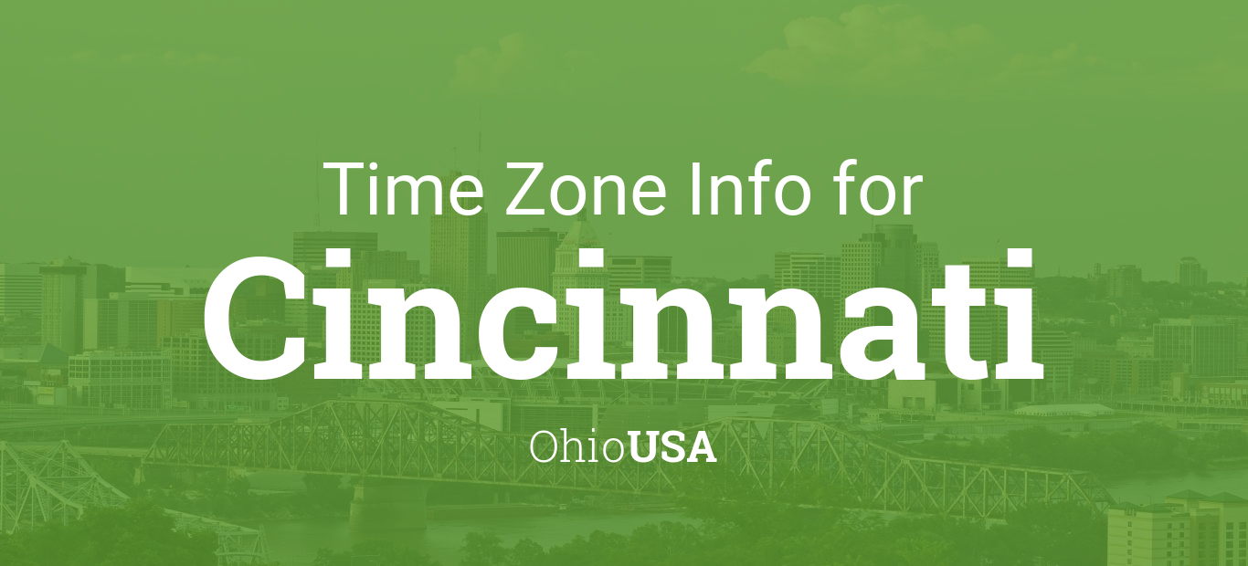 time zone clock changes in cincinnati ohio usa