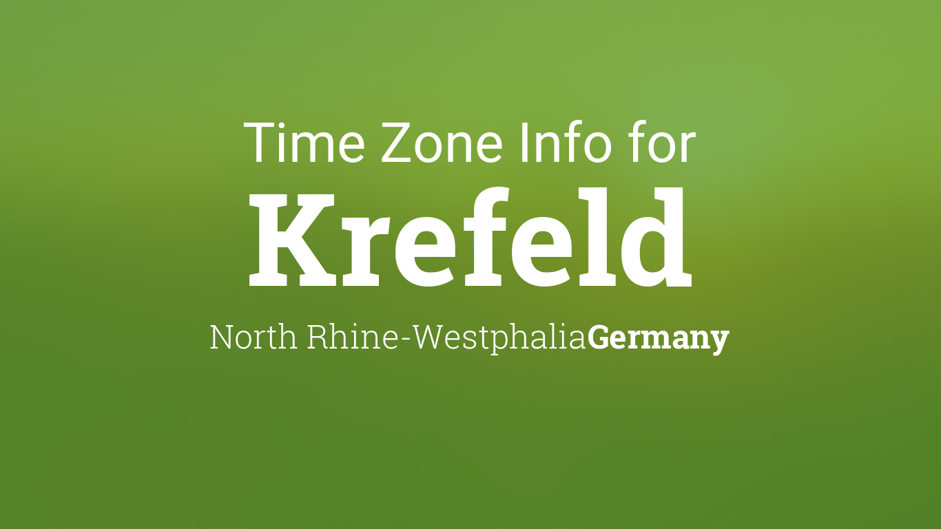 time zone clock changes in krefeld north rhine westphalia germany. Black Bedroom Furniture Sets. Home Design Ideas