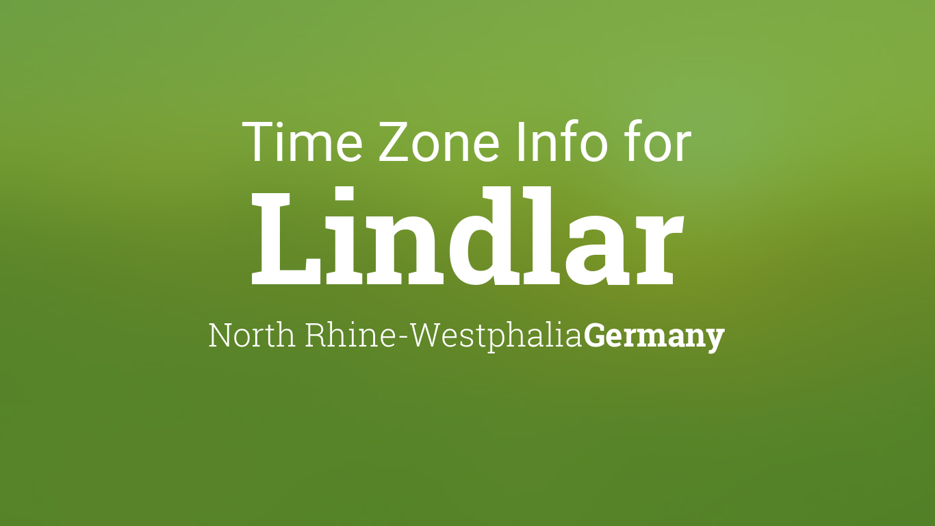 Daylight Saving Time Dates For Germany North Rhine Westphalia